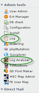 TYPO3 Admin Tools Menu